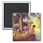 Waterfall - by Maxfield Parrish Magnet