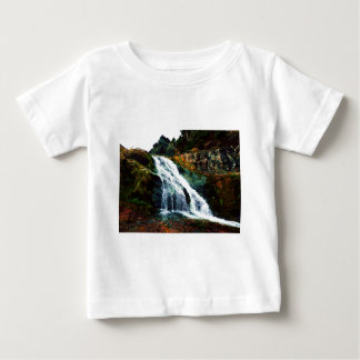 Waterfall By Stiles Cove Path Baby T-Shirt