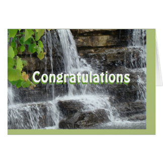 waterfall card - customize any occasion