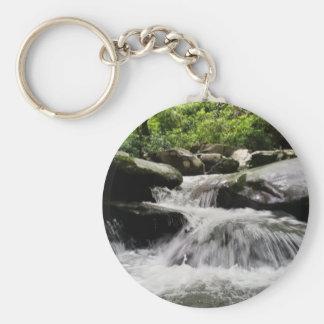 Waterfall Cascades Great Smoky Mountains Basic Round Button Keychain