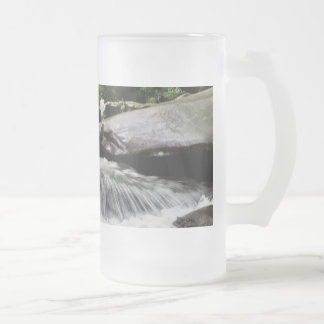 Waterfall Cascades Great Smoky Mountains Frosted Glass Beer Mug