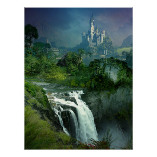 Waterfall Castle Poster