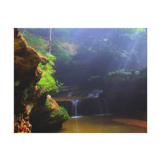 Waterfall Cave Canvas Print