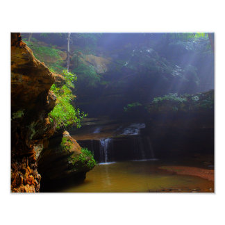 Waterfall Cave Poster