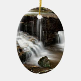 Waterfall Ceramic Ornament