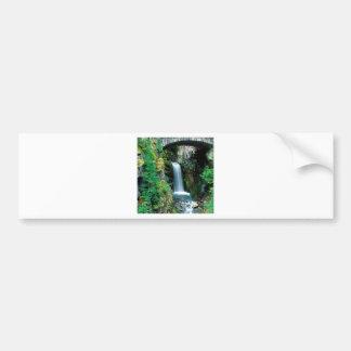 Waterfall Christine Mount Rainier Bumper Sticker