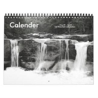 Waterfall compilation calender calendar