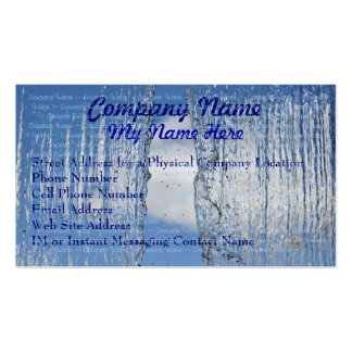 Waterfall Conserve Water Eco Business Cards