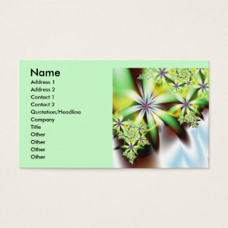 Waterfall Cool Abstract Fine Fractal Art Business Card