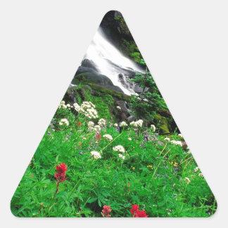 Waterfall Cool Mount Adams Triangle Sticker