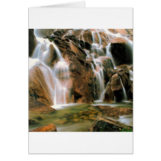 Waterfall Cool Water Sawtooth Wilderness Idaho Card