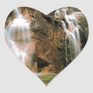 Waterfall Cool Water Sawtooth Wilderness Idaho Heart Sticker