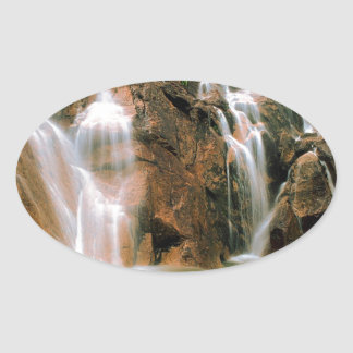 Waterfall Cool Water Sawtooth Wilderness Idaho Oval Sticker