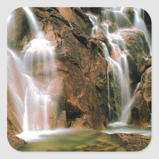 Waterfall Cool Water Sawtooth Wilderness Idaho Square Sticker