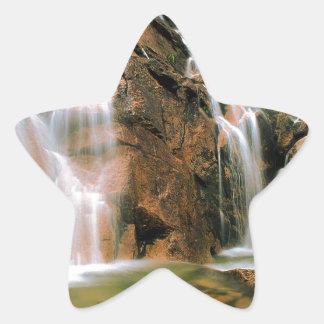 Waterfall Cool Water Sawtooth Wilderness Idaho Star Sticker