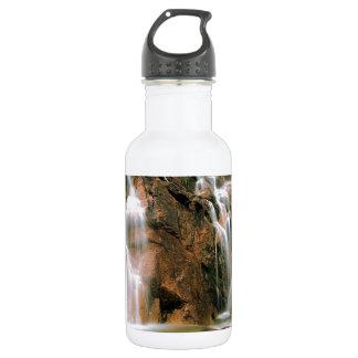 Waterfall Cool Water Sawtooth Wilderness Idaho Water Bottle