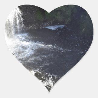 WATERFALL CRADLE MOUNTAIN TASMANIA AUSTRALIA HEART STICKER