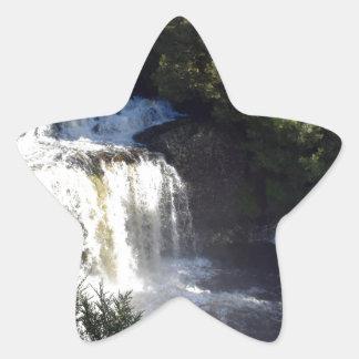 WATERFALL CRADLE MOUNTAIN TASMANIA AUSTRALIA STAR STICKER