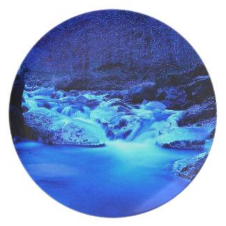 waterfall dinner plate