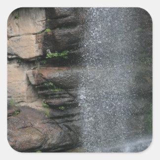 Waterfall Drops Square Sticker