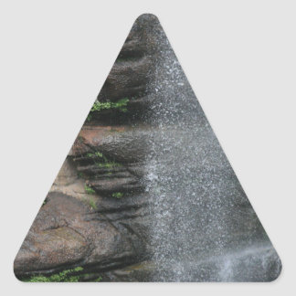 Waterfall Drops Triangle Sticker