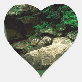Waterfall Eagle Falls State Park Kentucky Heart Sticker