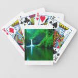 Waterfall Eagle Wilderness Area Columbia Bicycle Playing Cards