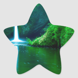 Waterfall Eagle Wilderness Area Columbia Star Sticker
