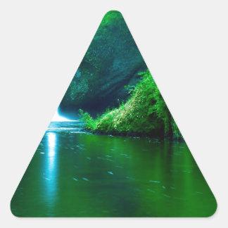 Waterfall Eagle Wilderness Area Columbia Triangle Sticker