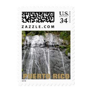 Waterfall El Yunque, Puerto Rico Stamp