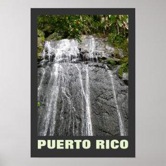 Waterfall El Yunque Rio Grande Puerto Rico Poster