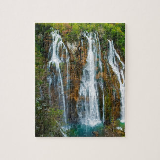 Waterfall elevated view, Croatia Jigsaw Puzzle
