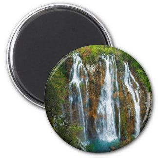 Waterfall elevated view, Croatia Magnet