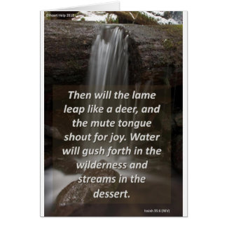Waterfall Encouragement Card