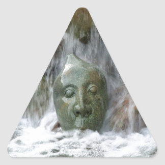 Waterfall Face Triangle Sticker