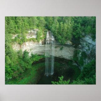 Waterfall Fall Creek Falls State Park TN Poster
