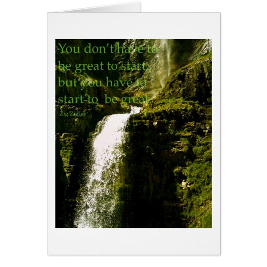 Waterfall...Famous Quote Card