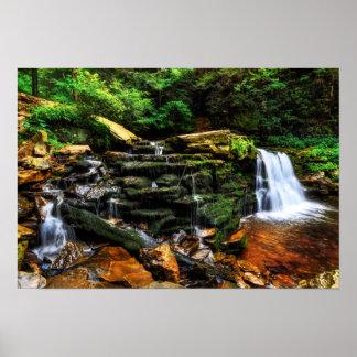 Waterfall Fantasy 19x13 Poster
