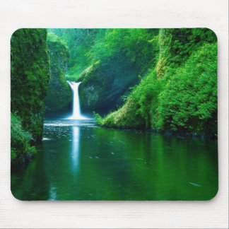 Waterfall Forrest Mouse Pad
