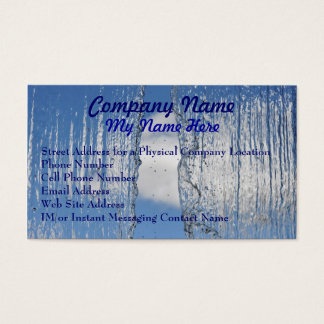 Waterfall Fresh Flowing Water Business Cards
