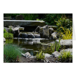 Waterfall Garden Nature Photograph Card