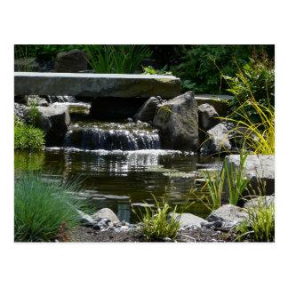 Waterfall Garden Nature Photograph Postcard