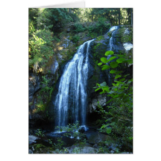 Waterfall Greeting Card with Apache Blessing
