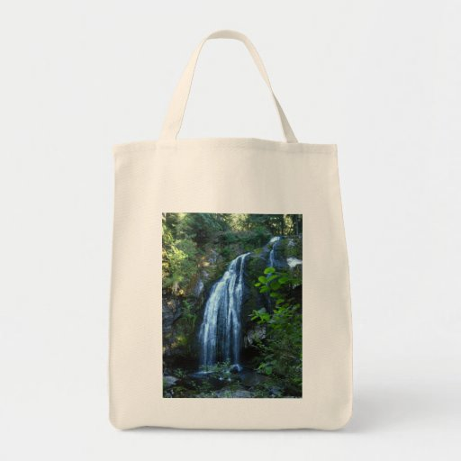 Waterfall Grocery Tote Bags