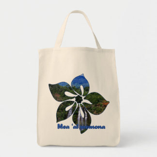 """""""Waterfall Hibiscus"""" Grocery Tote Tote Bag"""