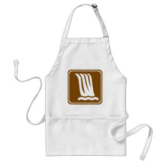 Waterfall Highway Sign Adult Apron
