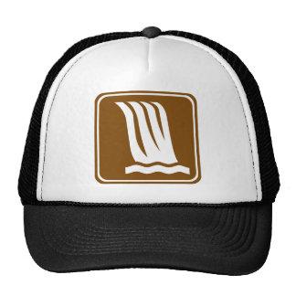 Waterfall Highway Sign Trucker Hat