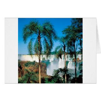 Waterfall Iguassu Argentina Card