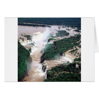 Waterfall Iguassu Brazil Argentina Card