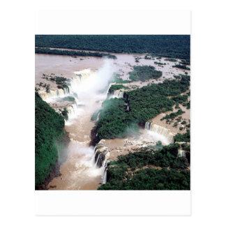 Waterfall Iguassu Brazil Argentina Postcard